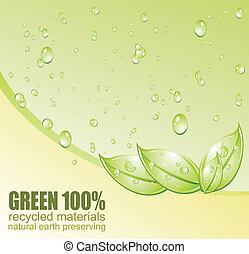 Conceptual Green Environment and recycle card