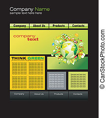 Green Web Site Template