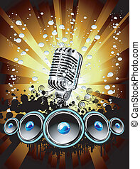 Music Event Background - Abstract Colorful Music Event...