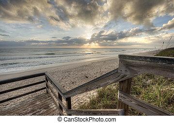 Sunrise in Melbourne Beach, Florida