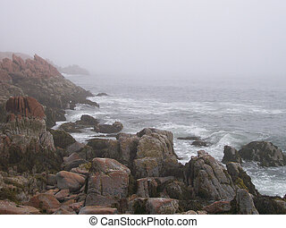 Rocky Maine Beach Scenery - Rocky Beach Near Bar Harbor...