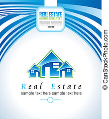 Real Estate Abstract Colorful Business Card - Abstract Real...