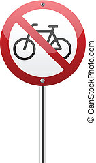 Do not ride bicycle sign