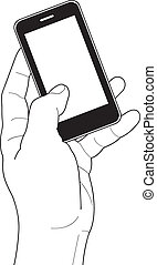 Phone touch gestures Touch the screen