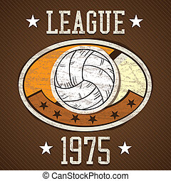 Sport Icons concept different elements (volleyball league)