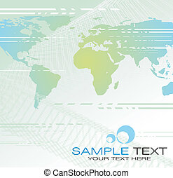 Abstract World background - Abstract World map business...