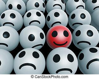 unique happy face - unique red happy face inside unhappy...