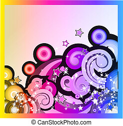 Fantasy Bubbles Background with Colorful Rainbow Effect
