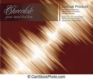Chocolate striped background for cards