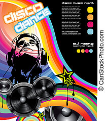 Discoteque promotional event Flyer - Abstract Discoteque...