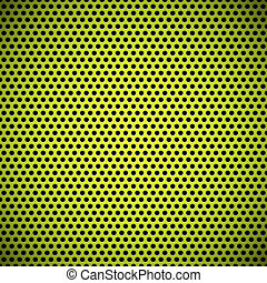 Seamless Circle Perforated Carbon Grill Texture - Green...