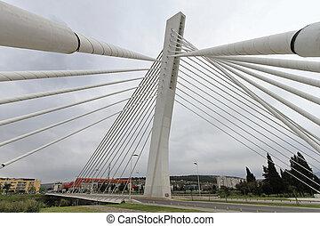 Millennium Bridge Podgorica - White suspension Millennium...