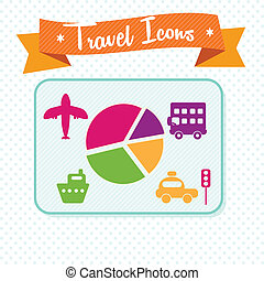 Travel and Transport Icons - Travel and Transport Colorful...