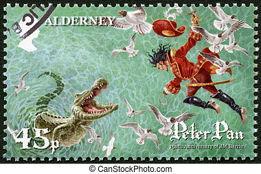 ALDERNEY - CIRCA 2010: A stamp printed in Alderney shows...