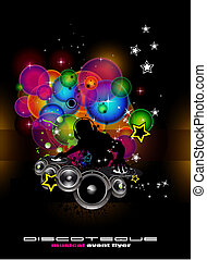 Music Event Background with DJ shape - Abstract Light Music...