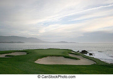 Pebble beach golf links, Monterey, california, USA, hole 7