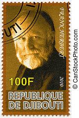 DJIBOUTI - 2010: shows Frank Herbert 1920-1986 - DJIBOUTI -...