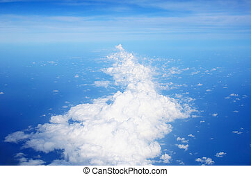 White clouds with blue sky