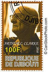 DJIBOUTI - 2010: shows Arthur C Clarke 1917-2008 - DJIBOUTI...