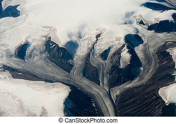 Glacier in Greenland - scenic panorama of glaciers from...