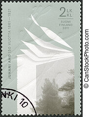 FINLAND - CIRCA 2011: A stamp printed in Finland shows 150th...