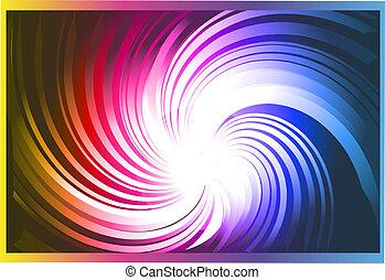 Vortex with Rainbow gradient background