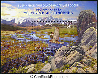 RUSSIA - CIRCA 2013: A stamp printed in Russia shows World...