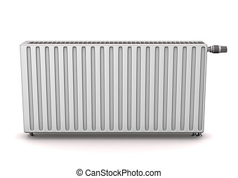 Radiator on the white background. 3d illustration.