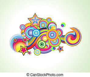Fantasy colorful Background