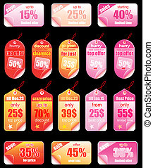 Christmas Colorful Promotional sales price labels -...