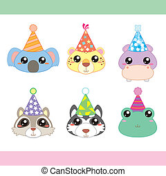 Cartoon Party Animal icons collection - cartoon party animal...