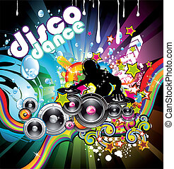 Discoteque Colorful Background - Abstract Water Discoteque...