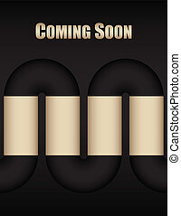 coming soon background with metallic design