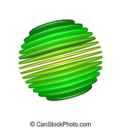 Sliced Sphere - Spliced sphere design. EPS10 format....