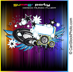 Disco Dance Colorful Background for Flyers