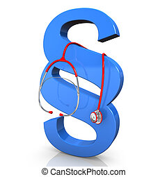 Stethoscope Paragraph - Blue paragraph with red stethoscope...