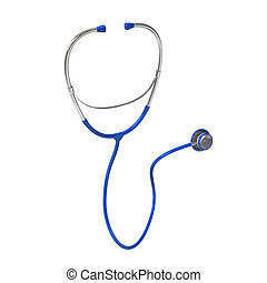 Blue Stethoscope - Blue stethoscope on the white background....