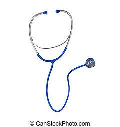 Blue Stethoscope - Blue stethoscope on the white background....