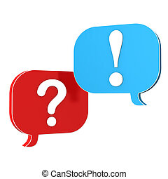 Speech Bubbles Question Answer - Speechbubbles with question...