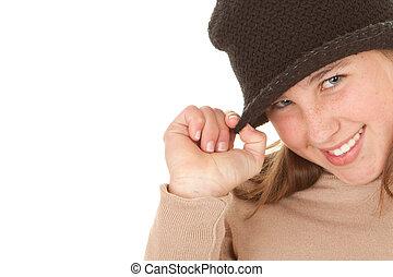 cute child in hat
