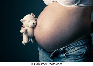 Pregnant woman torso