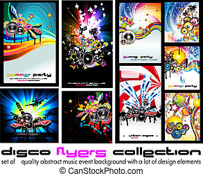 Abstract Music Background for Discoteque Flyer - Set 5 - Set...