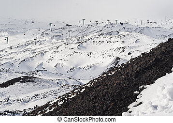 view of Etna volcano.