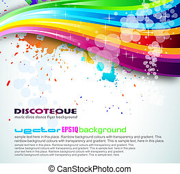 Rainbow Spectrum Background for Brochure or Flyers -...