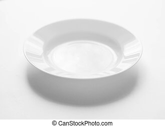 Plate on a white background