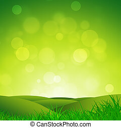Green Hills - abstract nature background of green grass...