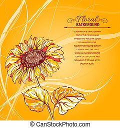 Illustration of sunflower. Vector illustration, contains...