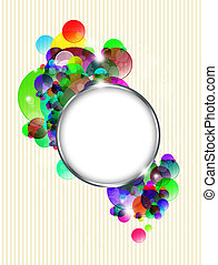 abstract colorful background with metal frame