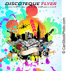 Abstract  Vintage Style Disco Flyer