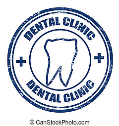 Dental clinic stamp - Grunge rubber stamps with the text...